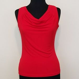 CK, Sleeveless Stretch Cowl Neck Top, XS